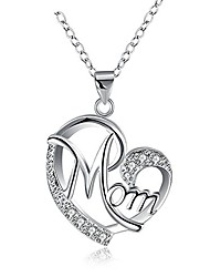 cheap -gifts for mom mother necklace pendant sterling silver for women love heart mom birthday gifts