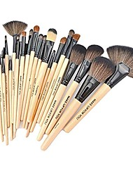cheap -24 pcs professional beauty cosmetic makeup brush set_beige
