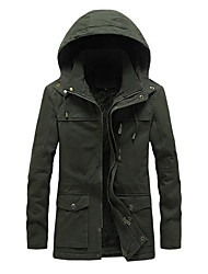 cheap -men's winter thicken military parka jacket with removable hood (black-8796, xx-large)