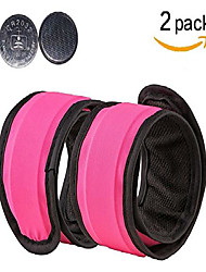 cheap -led running armband glow bracelets slap lights band replaceable battery armband for running runners 2 pack (pink)