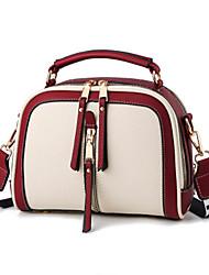 cheap -Women's Bags PU Leather Top Handle Bag Zipper Outdoor Handbags White Black Yellow Blushing Pink