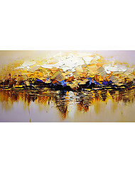 cheap -Oil Painting Hand Painted Horizontal Abstract Modern Rolled Canvas (No Frame)