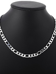 cheap -Women's Men's Chain Necklace Beaded Necklace Classic Precious Fashion Copper Silver Plated Silver 51 cm Necklace Jewelry 1pc For Christmas Halloween Party Evening Street / Chains