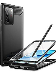cheap -xenon series designed for samsung galaxy note 20 ultra case, [built-in screen protector] full-body rugged cover compatible with fingerprint id, 6.9 inch 2020 release (black)