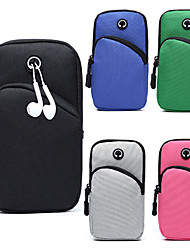 cheap -Unisex Bags Oxford Cloth Mobile Phone Bag Zipper Solid Colored 2020 Daily Outdoor Black Blue Blushing Pink Green