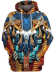 cheap -Inspired by American Indian American Indian Cosplay Costume Hoodie Terylene 3D Printing Hoodie For Men's / Women's