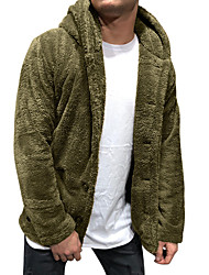 cheap -Men's N / A Winter Coat Regular Dailywear Coat Tops ArmyGreen
