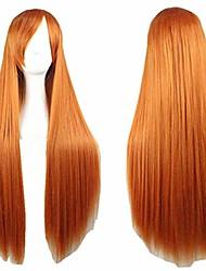 cheap -anime cos wig long straight hair cosplay wig (orange)