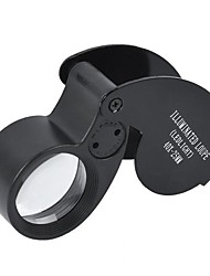 cheap -Magnifying Glass Loupe 40X 25mm 40X25mm 40x25 Jeweller LED Light Glass Magnifier Portable Illuminated Loupe Fold