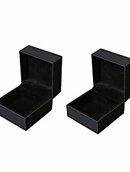 cheap -2pcs pu leather high-end watch display box single slot jewelry storage box for men women (s)