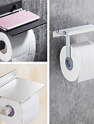 cheap -Toilet Paper Holder With Shelf Alumium Alloy Creative Modern Aluminum 1pc Wall Mounted for Mobile Phone Storage Dispenser Stand