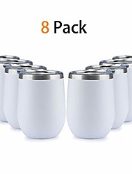 cheap -stainless steel wine tumbler with lid, 12 oz | double wall vacuum insulated travel tumbler cup for coffee, wine, cocktails, ice cream cup with lid (white)