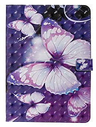 cheap -Case For Apple iPad Pro (2020) 11'' iPad 7 (2019) 10.2'' iPad Air 3 (2019) 10.5'' Wallet Card Holder with Stand Full Body Cases Purple Butterfly PU Leather TPU for iPad 5 (2017) 9.7'' iPad 6(2018) 9.7