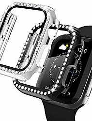 cheap -compatible with apple watch case rhinestone apple watch protective case frame hard protector case bumperFor Apple iWatch Apple Watch Series SE / 6/5/4/3/2/1 44mm 42mm 40mm 38mm