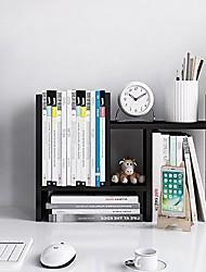 cheap -- desktop organizer office storage rack adjustable wood display shelf - free style double h display - true natural stand shelf - pink
