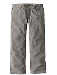 cheap -men's 5-pocket stretch twill pants, granite, 36, inseam: 32 inch