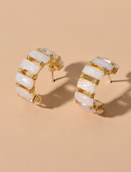 cheap -Women's Stud Earrings Geometrical Fashion Earrings Jewelry Gold For Festival