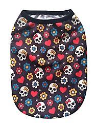 cheap -red pirate flower pattern pet vest puppy cat clothes fashion shirt cute cool t-shirt