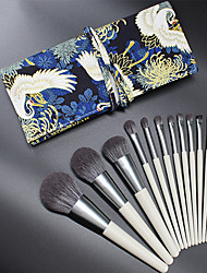 cheap -NMKL new 12 makeup brushes full set of beginner makeup brush sets with wooden handle makeup tools factory direct sales