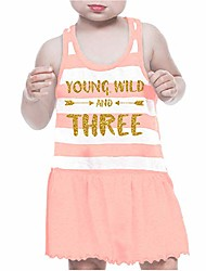 cheap -third birthday outfit girl three year old summer dress pink