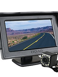 cheap -ZIQIAO 4.3 Inch TFT LCD Screen Car Monitor Auxiliary Parking  12 LED Light Night Vision Rear View Camera