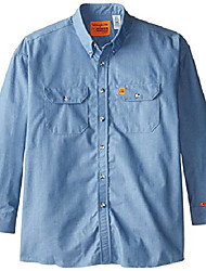 cheap -men's denim shirt, antique blue, 3x