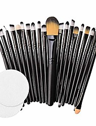 cheap -❤️ sunbona ❤️ clearance sale makeup brush 20pcs/set makeup brush set tools make-up toiletry kit wool make up brush set (black)