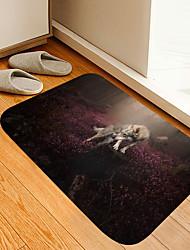 cheap -Flower Lone Wolf Digital Printing Floor Mat Modern Bath Mats Nonwoven / Memory Foam Novelty Bathroom