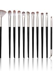 cheap -12 pcs eye makeup brush set fiber soft hair eye shadow makeup brush set makeup tools