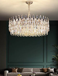 cheap -60 cm Crystal Chandelier Luxury Pendant Light Metal Electroplated Modern 110-120V 220-240V