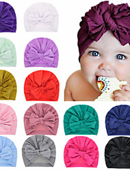 cheap -1pcs Toddler / Infant Girls' Basic Black / White / Blue Solid Colored Pure Color / Bow Spandex / Cotton Hair Accessories White / Black / Purple One-Size