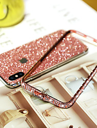 cheap -Phone Case For Apple iPhone 11 / iPhone 11 Pro Max / iPhone SE (2020) / iPhone XR / iPhone XS Max / iPhone 7/8 Plus Rhinestone Glitter Shine Back Cover TPU