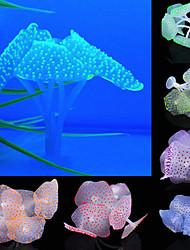 cheap -3pcs Sucker Coral Aquarium Artificial Coral Silicone Plant With Sucker Ornament Water Landscape Decor Fish Tank