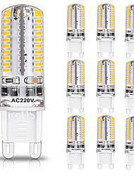 cheap -G9 80LED 600-700LM 7W 5730SMD Dimmable LED Bi-pin Lights Warm White Cool White Led Corn Bulb Chandelier Lamp AC 110-220V