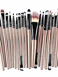 cheap -20 pieces makeup brush set professional face eye shadow eyeliner foundation blush lip makeup brushes powder liquid cream cosmetics blending brush tool kit(real wooden)