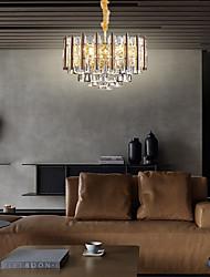 cheap -63 cm Chandelier Crystal Metal Unique Design Luxury Modern Lighting Fixture