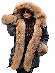 povoljno -zimski traper kaput zadebljati podstavljena jakna od kapuljače od umjetnog krzna topli krzneni kaput od šerpe plus veličina jean gornja odjeća (velika, siva 2033)