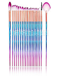 cheap -neon colorful makeup brushes 20 pcs make up foundation eyebrow eyeliner blush cosmetic concealer brushes (20)