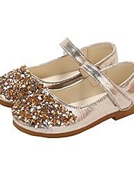 cheap -toddler girls shiny bling bling princess dress shoes ballet flat mary jane golden size 25
