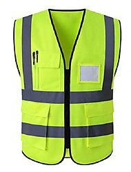 cheap -Reflective Vest Safety Vest Running Gear Breathable Durable Class 2 High Visibility Zipper Reflective Strip With Pockets Portable Lightweight Comfy Versatile for Running Cycling / Bike Jogging Dog