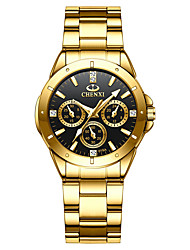 cheap -gold men's luxury wrist watches for man,black face stainless steel classic business golden series watch