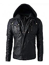 cheap -new men's motorcycle brando style biker real hoodie jacket