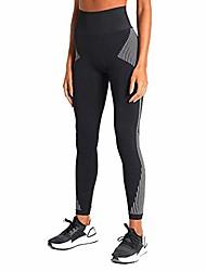 cheap -women's high waisted yoga pants 7/8 length seamless workout leggings (y910-black-m)