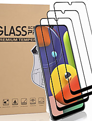 cheap -3 PCS Screen Protector for Samsung Galaxy A50s/A30s/A20s/A40s/A10s/A70s/M30s/M10/M20/M30 Full Tempered Glass Front Screen Protector High Definition (HD) / 9H Hardness