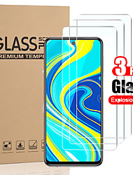 cheap -3 PCS Protector Screen for Xiaomi Redmi Note 9s/Note 9/Note 9 Pro/Note 9 Pro Max/Note 8/Note 8 Pro/Note 8T/Note 7/Note 7 Pro High Definition (HD) / 9H Hardness Tempered Glass
