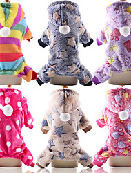 cheap -fundiscount pet clothes for dog cat, puppy hoodies coat winter sweatshirt warm sweater dog outfits jumpsuit pajamas tracksuit sportswear doggie apparels clothes (hot pink,x-small)