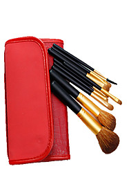 cheap -New product portable animal hair wool 9 makeup brush sets factory direct sales