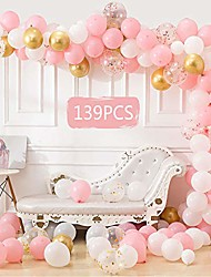 cheap -139 pcs balloon arch garland kit , white gold pink rose balloons pack, baby shower wedding bachelorette birthday party supplies centerpiece background decorations