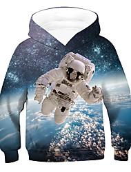 cheap -Kids Boys' Hoodie & Sweatshirt Long Sleeve 3D Drawstring Light Blue Children Tops Active Children's Day