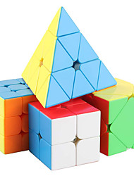 cheap -Speed Cube Set 4 pcs Magic Cube IQ Cube 2*2*2 3*3*3 Speedcubing Bundle 3D Puzzle Cube Stress Reliever Puzzle Cube Stickerless Smooth Office Desk Toys Pyramid Megaminx Skew Kid's Adults Toy Gift